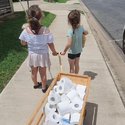 Photo of Children use tooth fairy money on toilet paper for others