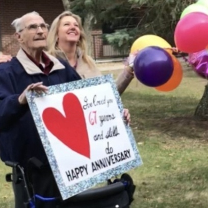 Photo of Bob and Nancy celebrate 67 years of love