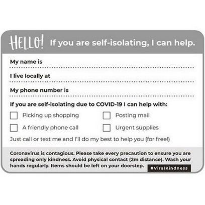 Photo of Self-isolation post card goes viral