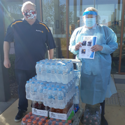 Photo of Altona Rotary Club donates 300 drinks